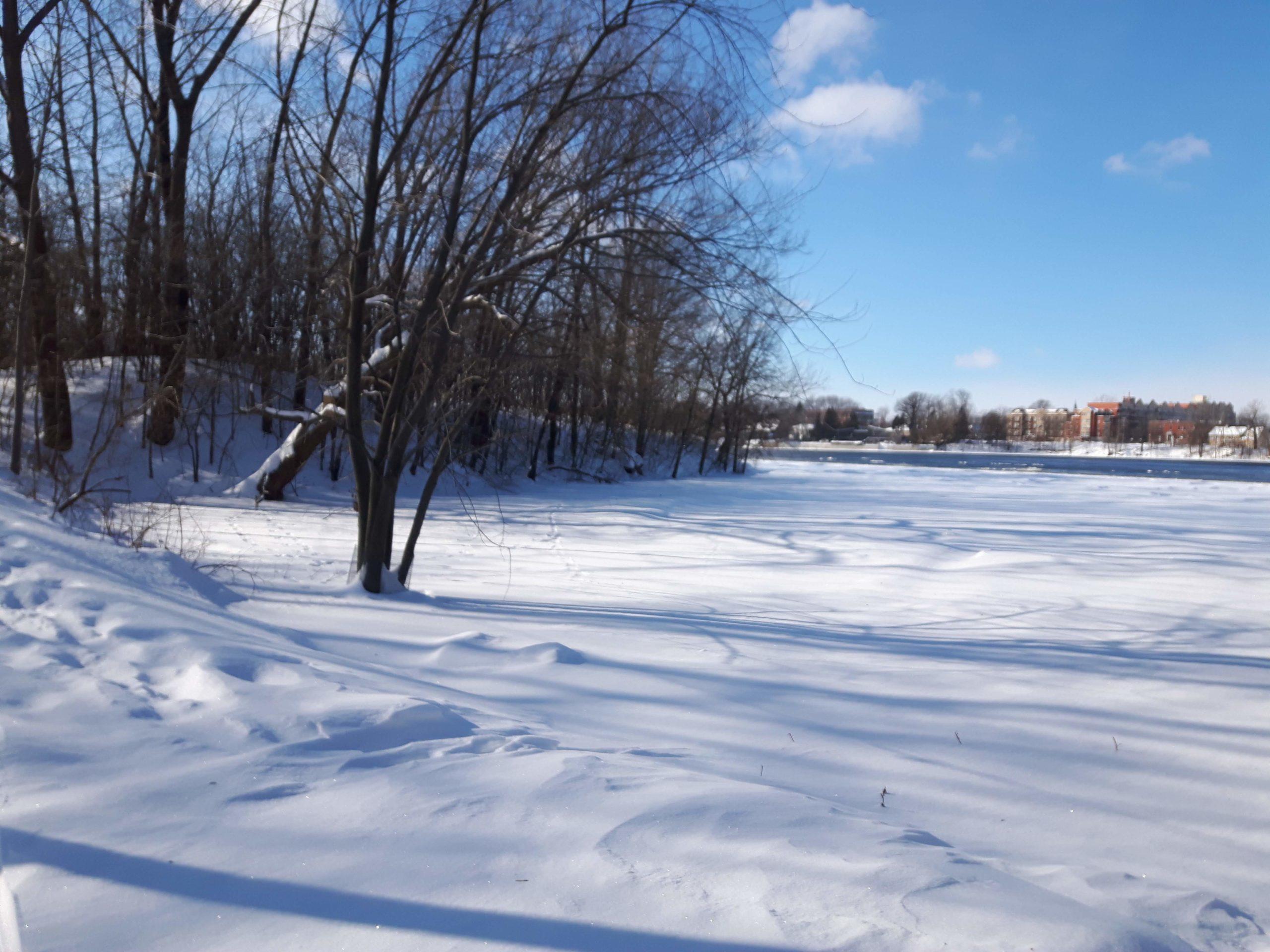 neige rivière des Prairies